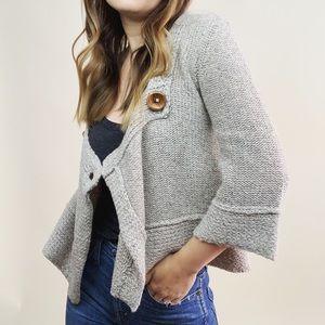 Free People Wool Cropped Sweater
